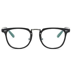 Amomoma Square Reading Glasses Optical Frame Clear Lens Eyewear Eyeglasses AM5021 C2 Matte Black