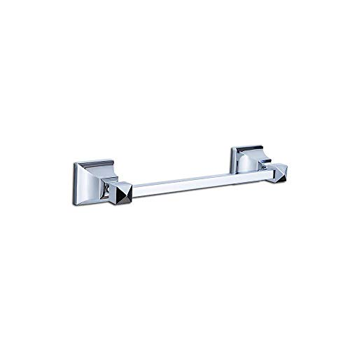 (Top Taste Single Brass Towel Bar, 11.8 Inch Wall-Mounted Towel Rack Holder for Bathroom Washcloths and Hand Towels, Polished Chrome)