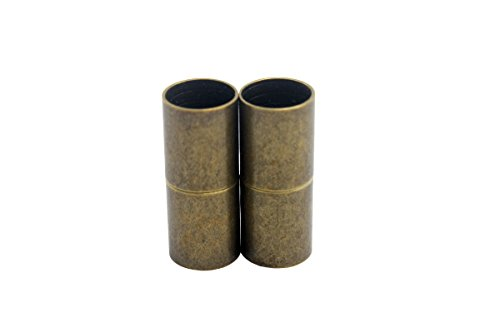 AaaZee 10pcs 8mm Inner Hole Antique Bronze Cylinder Magnetic Clasp, Jewelry Making End Clasp