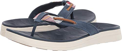 SPERRY Women's Adriatic Thong Skip Lace Prep Madras/Navy 8.5 M US
