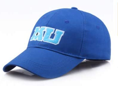 Amazon Com Baseball Cap Blue Mu Hat Monsters University Movie Pixar Mike Clothing