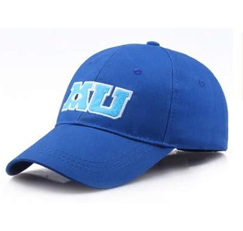 Amazon Com Baseball Cap Blue Mu Hat Monsters University Movie Pixar Mike Clothing