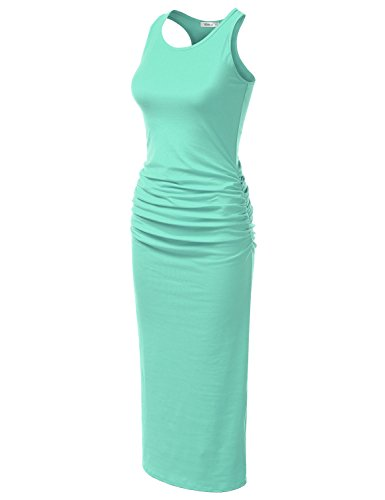 Made Plus Size Tank in Awdmd0225 mint Women Maxi USA Cotton with Dress for Doublju Stretchy Racerback PzSwnqp