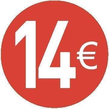 20 Diferentes Precios a Elegir Pack de 200-20mm Euro Precio Pegatinas 18 EURO ROJO
