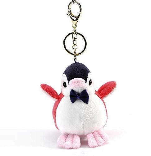 Smilesky Plush Penguin Keychain Ornaments Stuffed Animal Pendant Toys Red 4