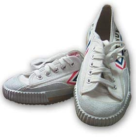 Martial Arts Kung Fu Sneakers Jogging Walking Training Shoes (White, 38 Men 6 Women 8)