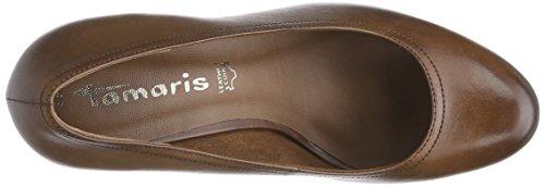 Tamaris 22410 - zapatos de tacón cerrados de cuero mujer marrón - marrón (muscat 311)
