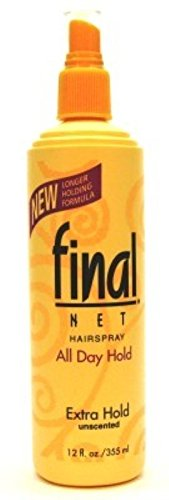 Final Net Hairspray Non-Aerosol Extra Hold Unscented 12 oz (Pack of 3) (Spray Net)