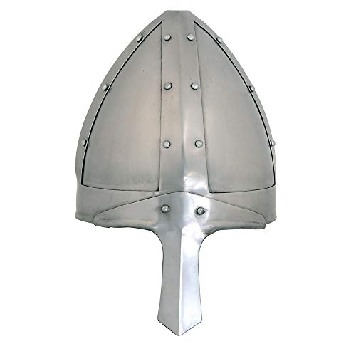 Medieval Norman Warrior Nasal Helmet,One Size Fits Most, Chrome, 11