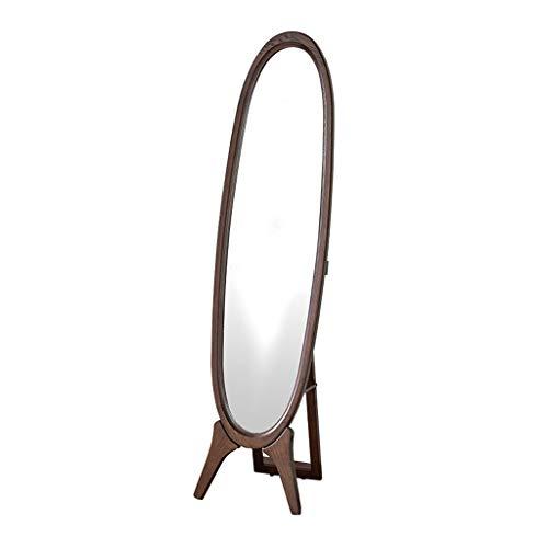 FYCZ Espejo de Pie,Estilo Shabby Chic Espejo de Madera de Soporte de Suelo Inclinable Espejo de Cuerpo Entero Housewares