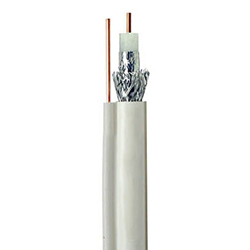 - RG6 UL cm Coaxial Cable White with Ground Wire 3 GHz Digital HDTV Satellite 500' FT Bulk Cable Roll 18 AWG CCS RG-6 Copper Clad Steel with Messenger Outdoor Suspension Drop Digital Video Signal Cable