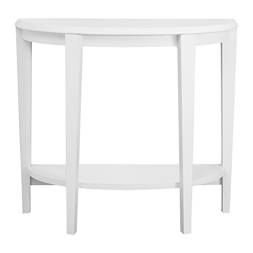 Monarch Specialties White Hall Console Accent Table, 36-Inch