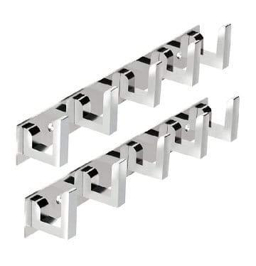 MAP Pack of 3 Stainless Steel 5 Pin Door Hangers, Cloth Hanger Hook