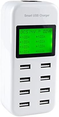 Amazon.com: eDealMax inteligente USB cargador de 40W 8A 8 ...