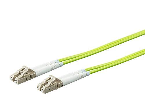 Monoprice Fiber Optic Cable - Green - 1 Meter | OM5, LC/UPC-LC/UPC, Multi Mode Duplex, (50/125 Type) - Entegrade Series