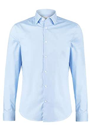 Pier One Camisa de Hombre en Azul Claro - Talla 37: Amazon.es ...