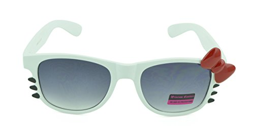 Belle Donne-Women's Kitty Cat Style Sunglasses | Whiskers and Bow - Bow With Hello Glasses Kitty