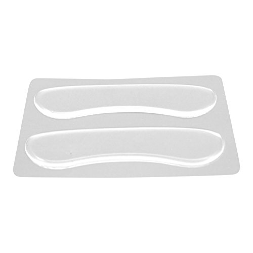 HappyFeet Heel Liner Gel Pads - Sticking Comfortable Clear Silicone Shoes Inlays / Liner Shields / Heel Grips