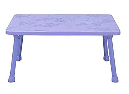KOKR Plastic Folding Table Laptop Table, College Lazy Bed Study Table  Multifunctional Simple Childrenu0027s Table