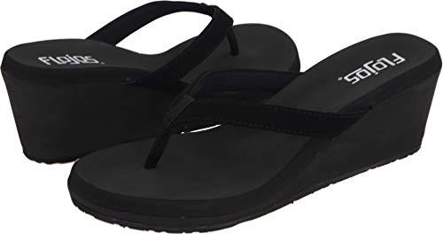 Flojos Women's Olivia Wedge Sandal, Black, 6.5-7 M ()