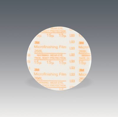3M (268L) Microfinishing Film Type D Disc 268L, 3 in x NH 15 Micron [You are purchasing the Min order quantity which is 1000 Disc's]