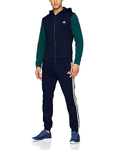 - adidas Men Track Suit Running Energize Training Work Out Gym (9 - UK 46/48 - XLarge) Navy/Green