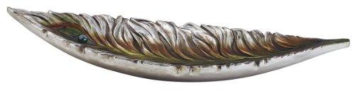 ORE International K-4232-B3 Peacock Decorative Bowl, 25-Inch (Ore Coin Bronze)