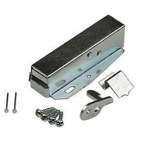 Marine Hardware Loft Catch Hatch Push Attic Cupboard Latch Press Lock Cabinet Panel Black