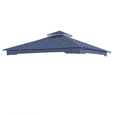 Garden Winds Replacement Canopy for The Garden Treasures Geo Gazebo - Standard 350 - Midnight Trellis: Garden & Outdoor