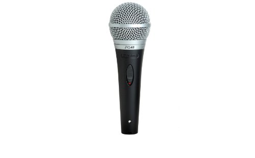Shure PG48-XLR Cardioid Dynamic Vocal Microphone with XLR-to-XLR Cable (Cardioid Microphone Shure Dynamic)