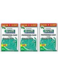 SunStar GUM Professional Clean Flossers 150 Ct (Pack of 3)