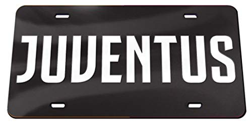 WinCraft Juventus Premium License Plate, Crystal Mirror Finish, 6x12 Inches (Juventus Car Accessories)