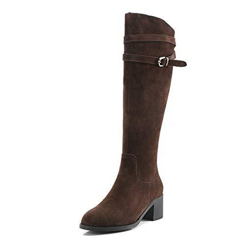 HAOLIEQUAN Frauen Über Die Stiefel Mode Damen Schuhe Winter Stiefel Mit Reißverschluss Alle Passen Stiefel Größe 34-40