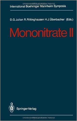 Book Mononitrate II (International Boehringer Mannheim Symposia)