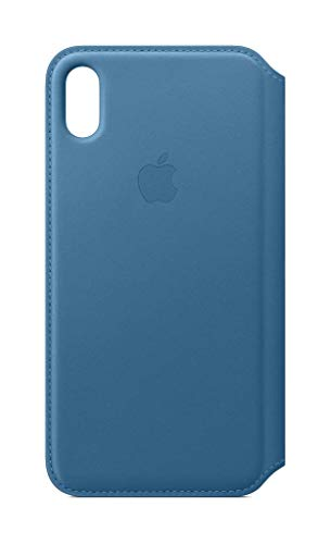 (Apple Leather Folio (for iPhone Xs Max) - Cape Cod Blue)