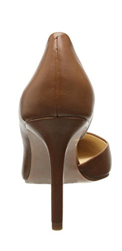 uBeauty Women's High Heel Court Shoes Pointed Toe Slip On D'Orsay Stiletto Heels Basic Shoes for Work Tan heel 10cm XeEx0R
