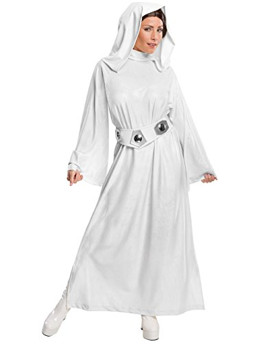Rubie's Women's Star Wars Classic Deluxe Princess Leia Costume,White,Large -