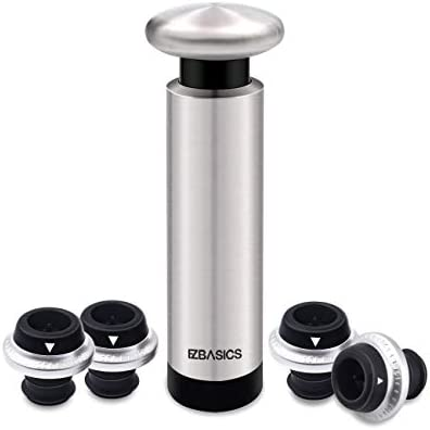EZBASICS Wine Saver Stoppers Stainless product image