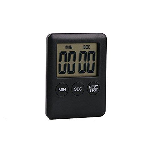 Digital Timer SOUFUN Reminder Alarm LCD Cooking Clock Kitchen Large Count-Down Up Loud (Black)
