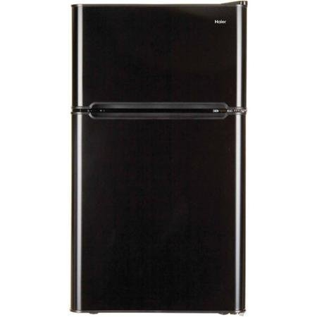 3.2 Cubic Feet 2-Door True-Freezer Compartment, Refrigerator, Black Haier non-28723