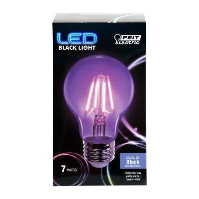 FEIT ELECTRIC A19/BLB/LED, 7W, Filament Black Light, LED, Non-Dimmable Bulb