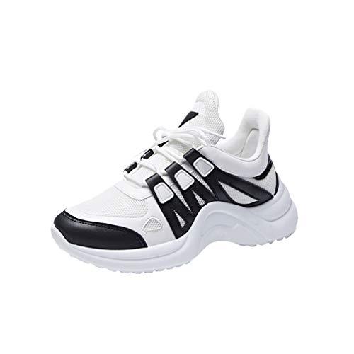 Da Ginnastica Donne Moda All'aperto Fitness Running Sneakers Imbottitura Casual Con Taglia Gym Maglia Nero Scarpe Traspirante 35 43 Sportive Donna Calda wpBn5qdq