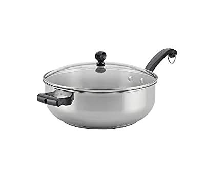 Farberware Classic Stainless Steel 6-Quart Covered Chef Pan