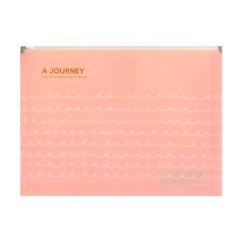 Impermeable carpeta de archivos de plástico (A4lado lateral Carpeta para documentos bolsa–Paquete de 4, Rosado