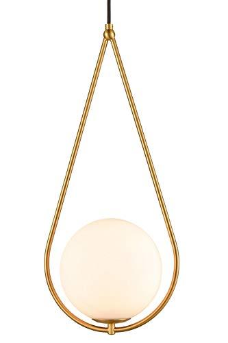 Modern Brass Glass Globe Pendant Lights Hanging Lamp Shade Chandelier Art Decor