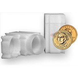 Ten Dollar Gold Coins - Square Small Dollar Coin Tube(Qty=10 Tubes) by CoinSafe