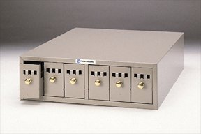 Fisherbrand Micro Slide Storage Cabinets and Bases, Dark Beige