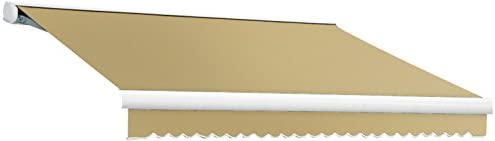 14 ft. Key West Full Cassette Right Motorized Retractable Awning 120 in. Projection Tan