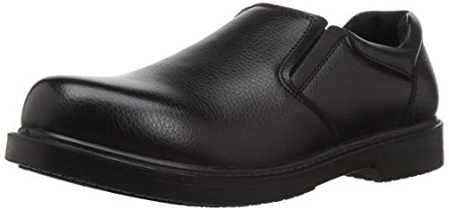 Dr. Scholl's Shoes Men's Rivet Loafer, Black Leather, 8.5 W -