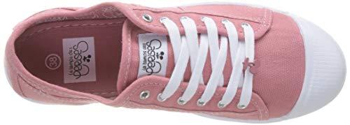 Tela Rosa Cerises Zapatillas De Le Mujer Para Des woodrose Temps Woodrose XOZfwqnRC